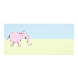 Pink Laughing Elephant. Rack Card