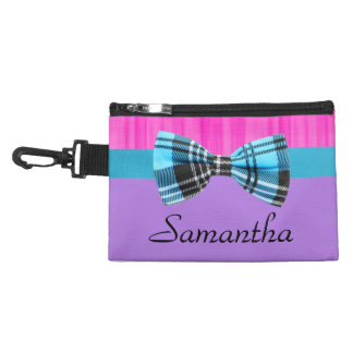 Pink,Lavender,Blue Plaid Pop Birthday Accessory Bag
