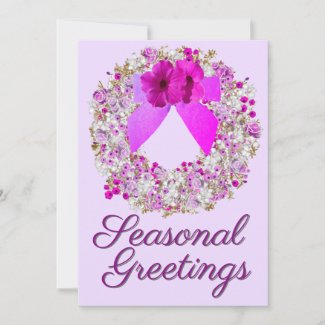Pink Lavender Holiday Announcement