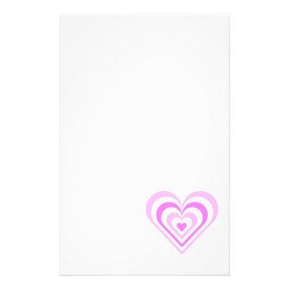 Pink Layered Heart Stationery