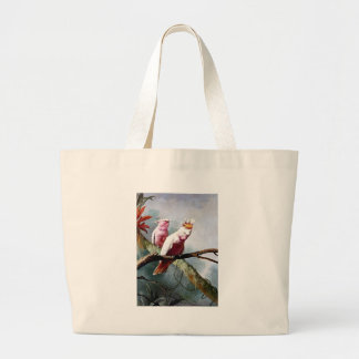 Pink Leadbeater Parrot birds painting Canvas Bag