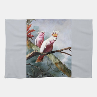 Pink Leadbeater Parrot birds painting Towels