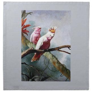 Pink Leadbeater Parrot birds painting Printed Napkins