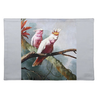 Pink Leadbeater Parrot birds painting Placemats