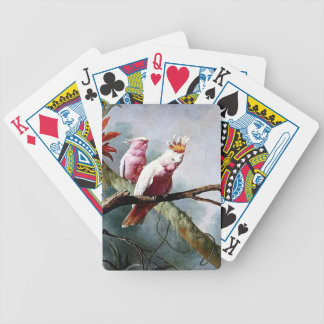 Pink Leadbeater Parrot birds painting Card Deck