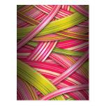 Pink Leaf Flowing Ribbons Postcard