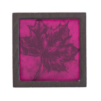 Pink Leaf Jewelry Box