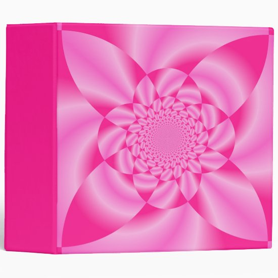 Pink Leaf Petal 3 Ring Binder