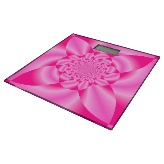 Pink Leaf Petal Bathroom Scale