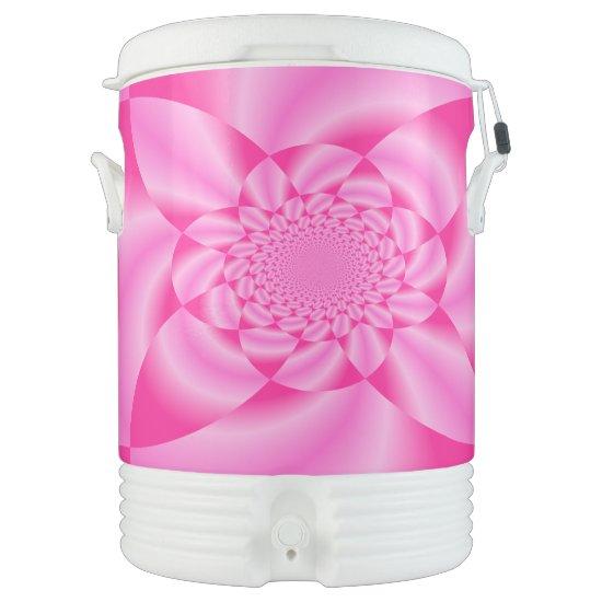 Pink Leaf Petal Beverage Cooler