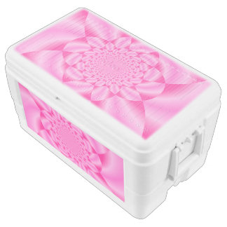 Pink Leaf Petal Chest Cooler