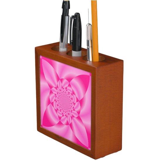Pink Leaf Petal Desk Organizer
