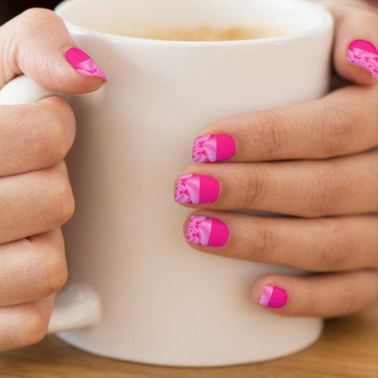 Pink Leaf Petal Minx Nail Art