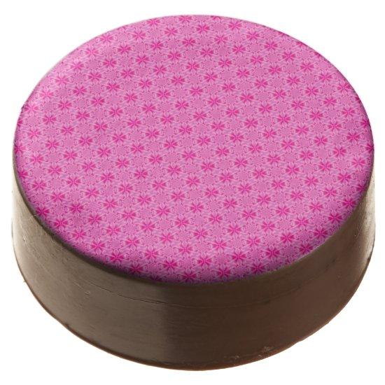 Pink Leaf Petal -Tiles Chocolate Covered Oreo