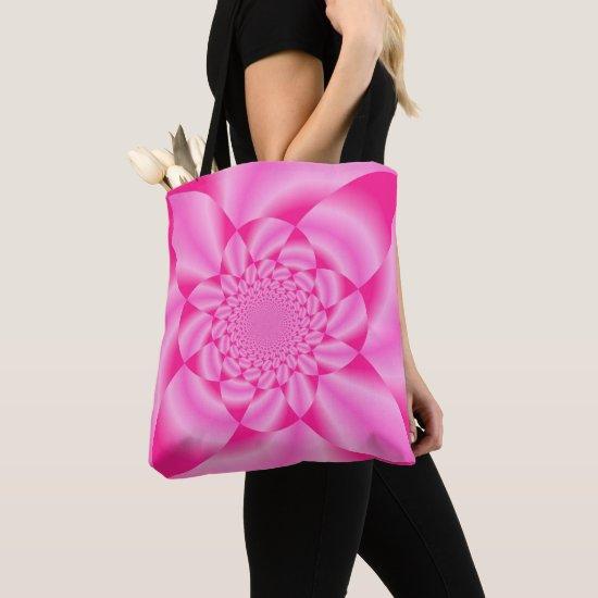 Pink Leaf Petal Tote Bag