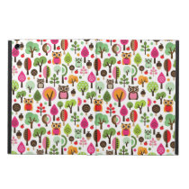 pink leaf tree retro owl pattern cover for iPad air