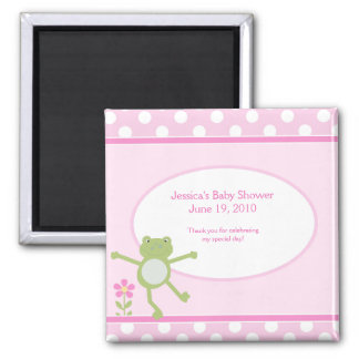 Pink Leap Frog Baby Shower Magnet Favor