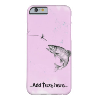 Pink Leaping Trout Fly Fishing Barely There iPhone 6 Case