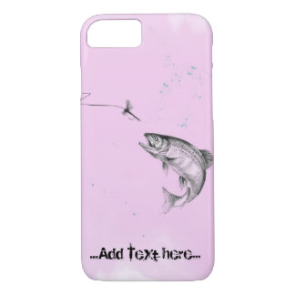 Pink Leaping Trout Fly Fishing iPhone 7 Case