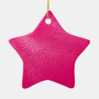 Pink Leather Look Ceramic Ornament