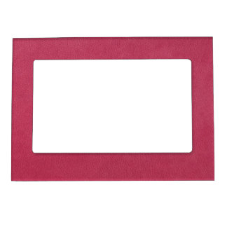 Pink Leather Look Magnetic Photo Frame