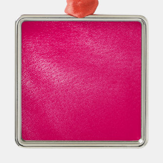Pink Leather Look Metal Ornament
