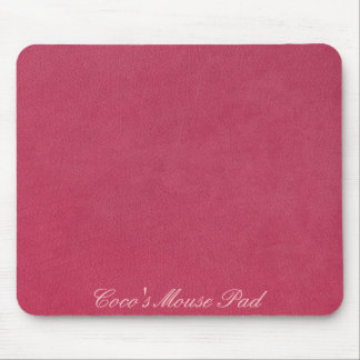 Pink Leather Look Mouse Pad