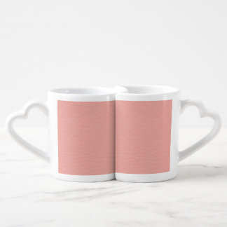 Pink Leather Texture Lovers Mugs