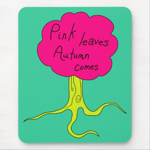 Pink leaves, Autumn comes Mouse Mats
