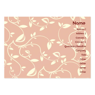 Pink Leaves - Chubby Large Business Cards (Pack Of 100)