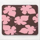 pink leaves mousepad
