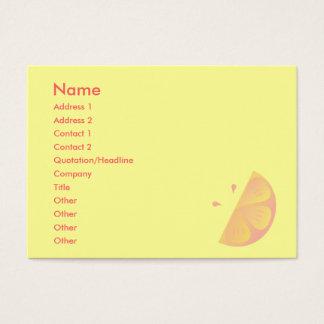 Pink Lemon Business Card