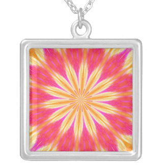 Pink Lemon Lily Medallion Necklaces