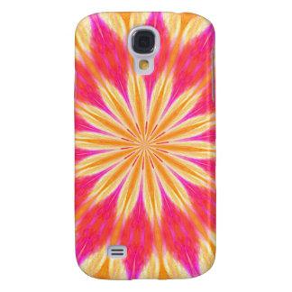 Pink Lemon Lily Medallion Samsung Galaxy S4 Case
