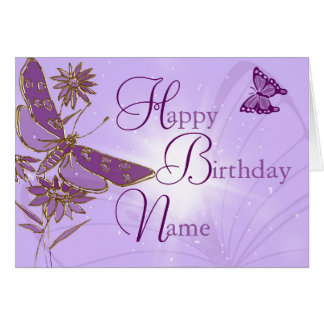 Pink Lemon Lime Butterfly Birthday Card