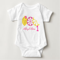 Pink Lemonade 1st Birthday Baby Bodysuit