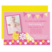 Pink Lemonade 1st Birthday Card