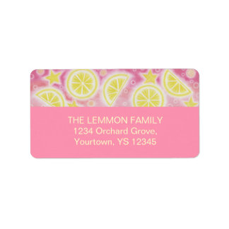 Pink Lemonade address label medium pink