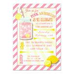 Pink Lemonade Birthday Party Invitations