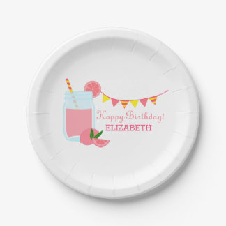 Pink Lemonade Birthday Party 7 Inch Paper Plate