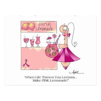 PINK LEMONADE Breast Cancer Postcard