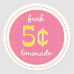 Pink Lemonade Favor Tags, Stickers, Seals