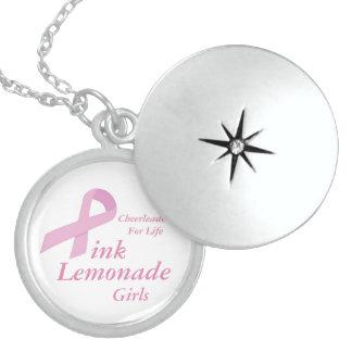 Pink Lemonade Girls Round Locket Necklace