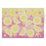 Pink Lemonade greetings card