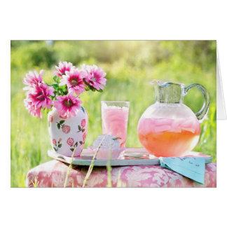 Pink Lemonade in the Garden beautiful photo card