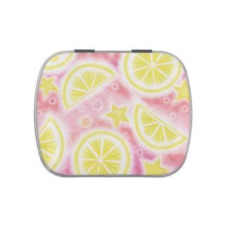 Pink Lemonade 'lemons' candy tin