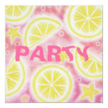 Pink Lemonade 'lemons' party invitation square