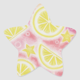 Pink Lemonade 'lemons' sticker star