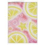 Pink Lemonade 'lemons' 'Thank You' card
