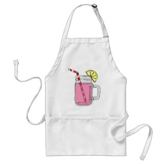 Pink Lemonade Mason Jar Adult Apron